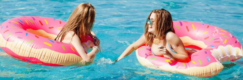 pool floats donut