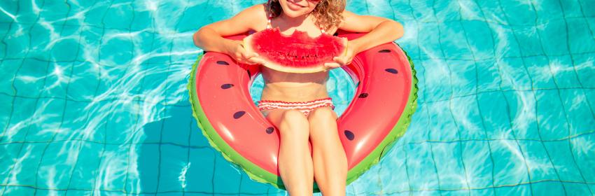 pool floats watermeloen