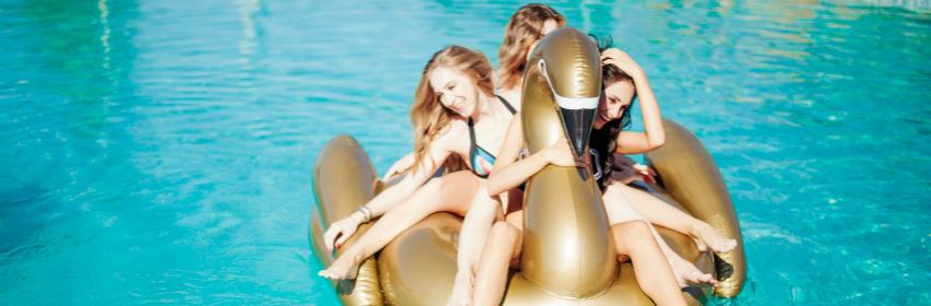 pool floats zwaan