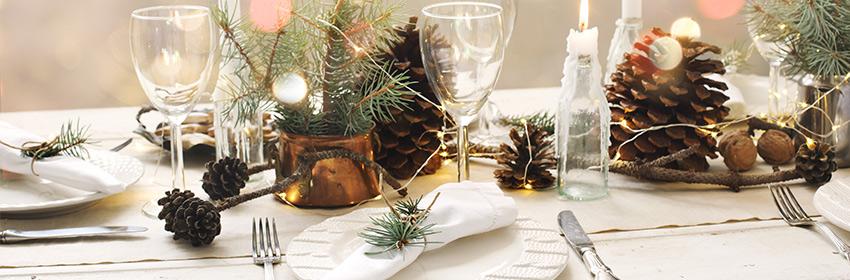 tafel voor kerstdiner