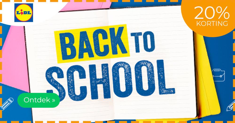 back to school Lidl promoties