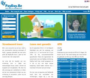 Payday.be website