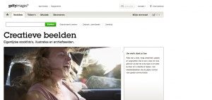 Ontdek via de oranje knop de promo code voor gettyimages.nl/.be