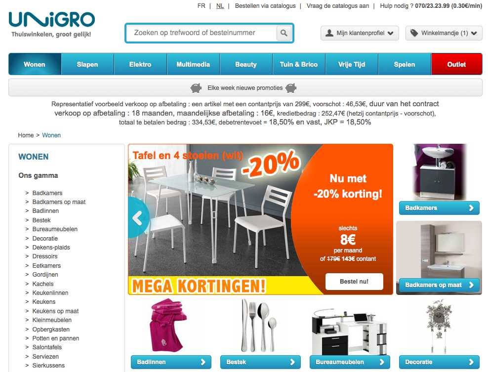 Unigro be – Table basse relevable